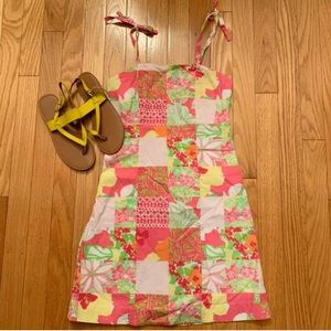Lilly Pulitzer Girls Multi Patch Sun Dress 10